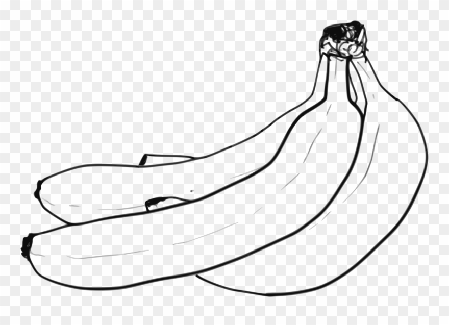 Banana Pictures Black And White