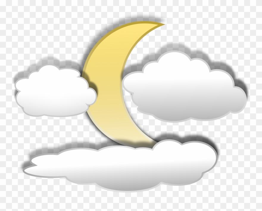 Cloud Clipart - Moon Clipart - Png Download
