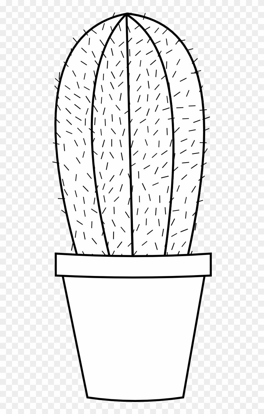 Cactus 16 Black White Line Art Flower Scalable Vector