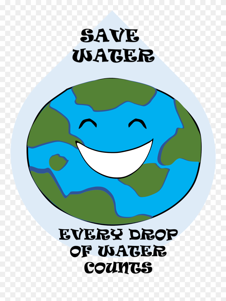 Save easy poster on save water clipart