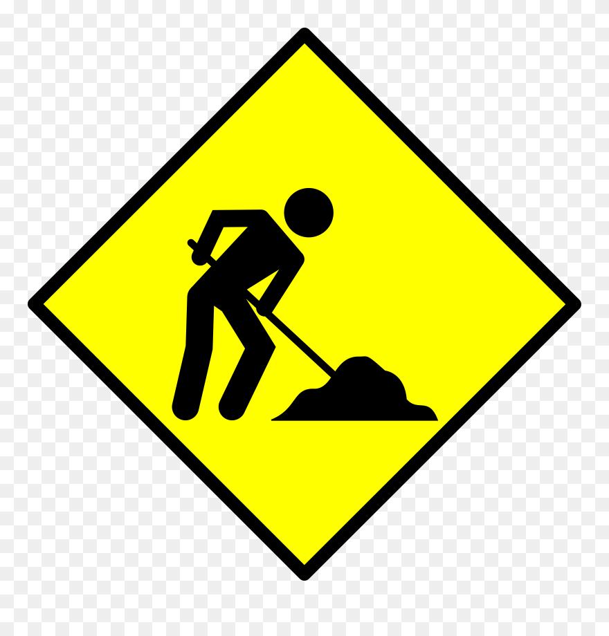 Under Construction Clip Art At Vector Clip Art - Under Construction Road Sign - Png Download
