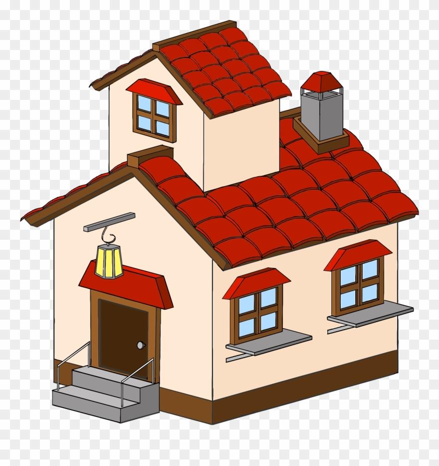 Simple House Clipart Clip Art Of Clipartwork Home Clipart 3d Png Transparent Png 9558 Pinclipart