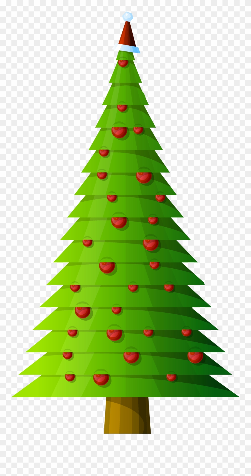 Tall Christmas Tree Clipart.Graphic Royalty Free Christmas Tree Style Transparent Tall