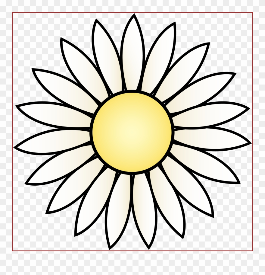 image relating to Daisy Printable named Printable Daisy Clipart - Black And White Sunflower Clipart