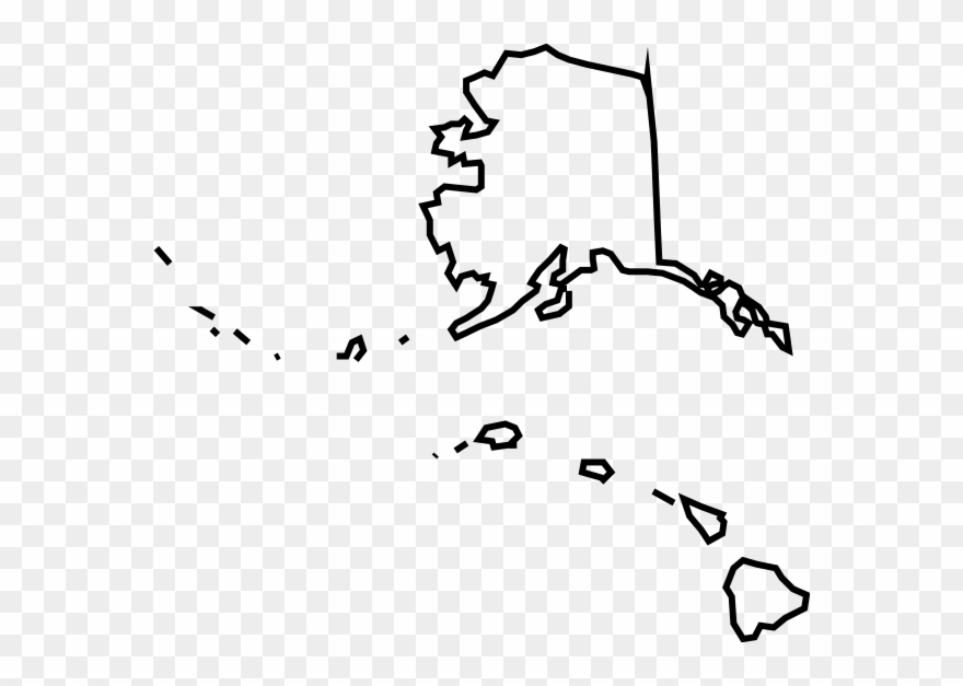 Hawaiian Islands Clip Art - Blank Map Of Alaska And Hawaii - Png ...