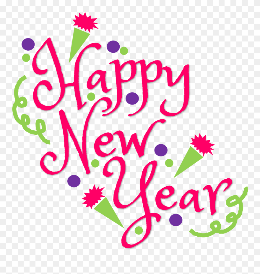 Happy New Year Text Png 77