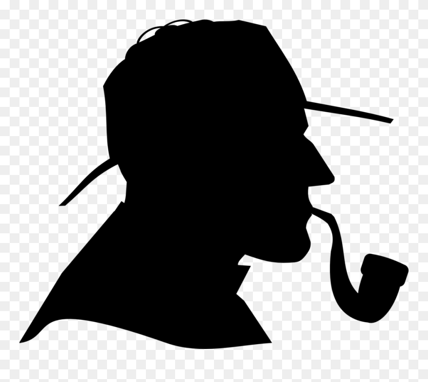 6565f8228e7 Brain In Profile Clipart, Vector Clip Art Online, Royalty - Detective  Silhouette Png Transparent