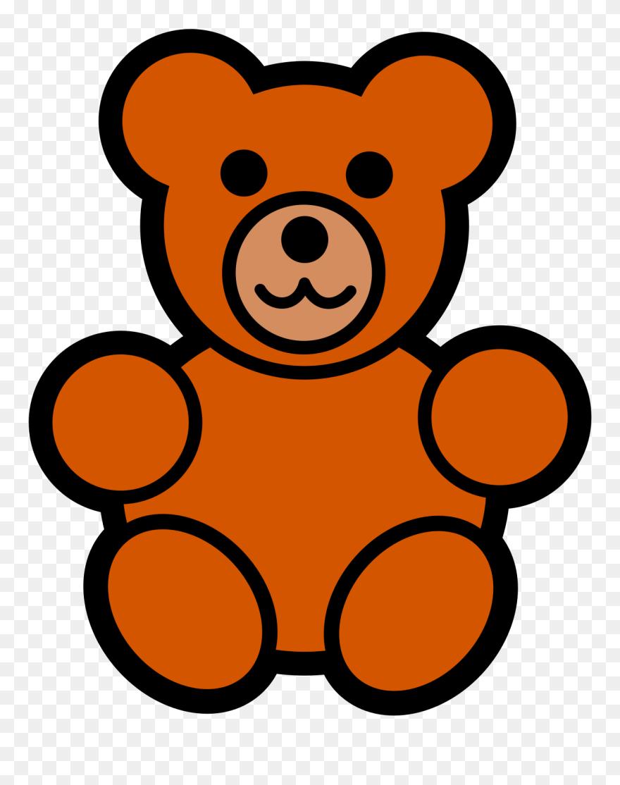 Easy cartoon. Teddy bear clipart free