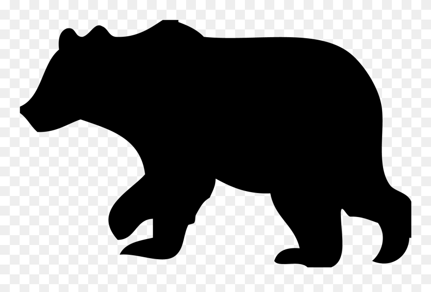 image transparent teddy bear silhouette at black bear