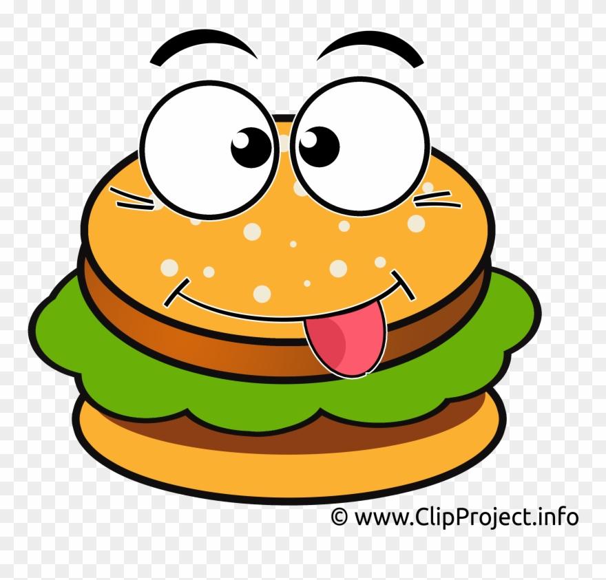 Burger Clip Art - Burger Face Clip Art - Png Download