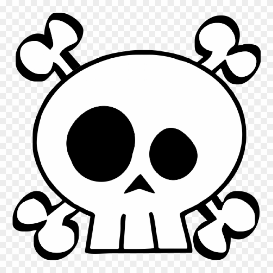Free Clipart Of A skull and crossbones | Skull coloring pages, Skull  template, Skull