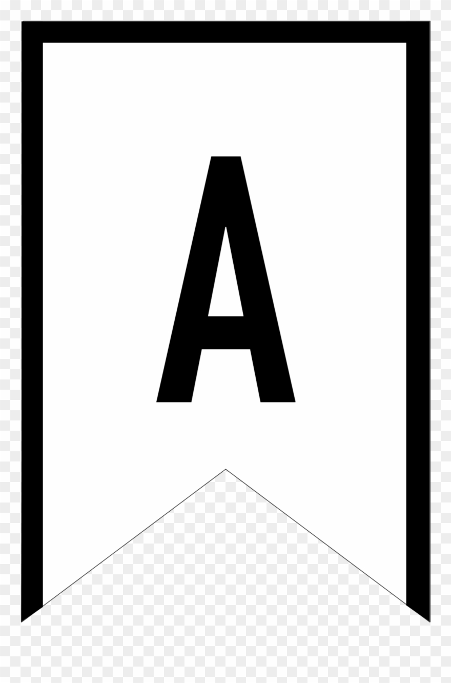 photograph regarding Printable Triangle identified as Banner Templates Free of charge Printable Abc Letters - Triangle