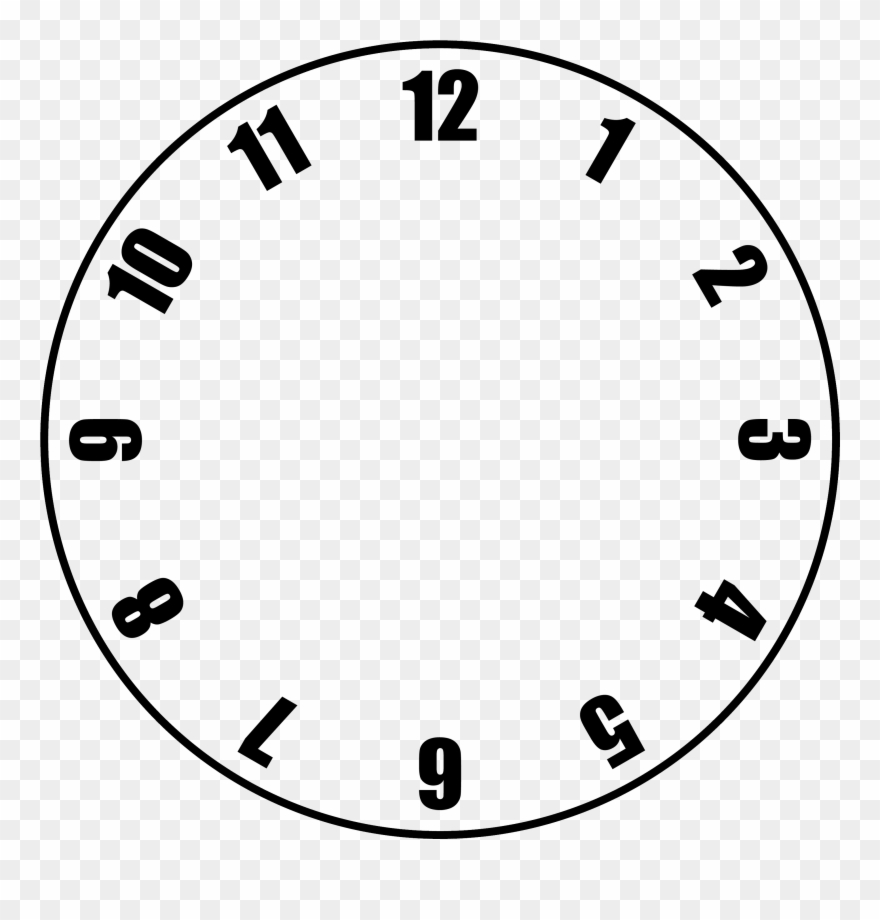 photo regarding Printable Clock Face With Hands named No cost Clock Facial area Template - Clock With No Arms Clipart