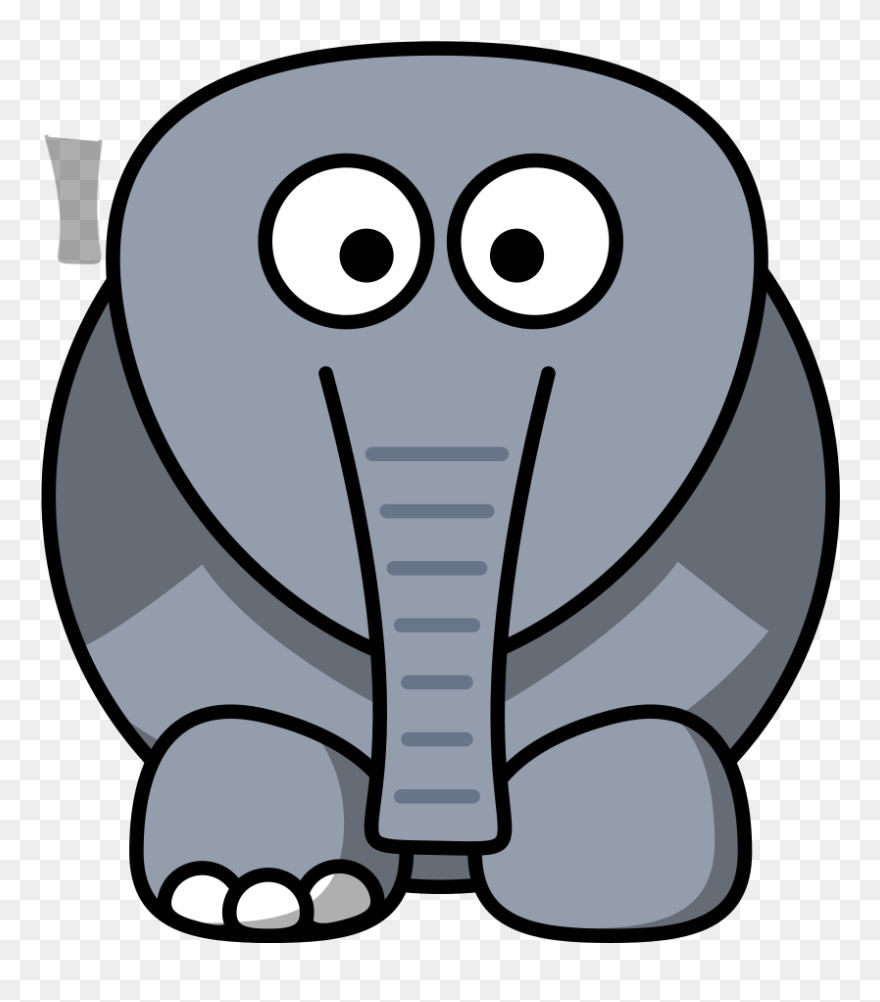 8b7020a2d Crippled Elephant Clip Art At Clker - Elephant With No Ears - Png Download