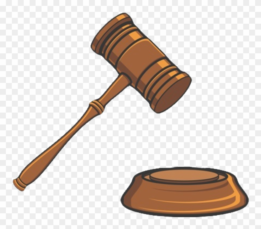 Clipart Hammer Lawyer - Court Clipart - Png Download ...