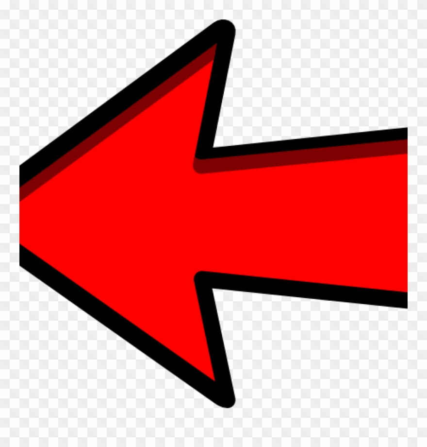 Arrow red. Clipart left clip art