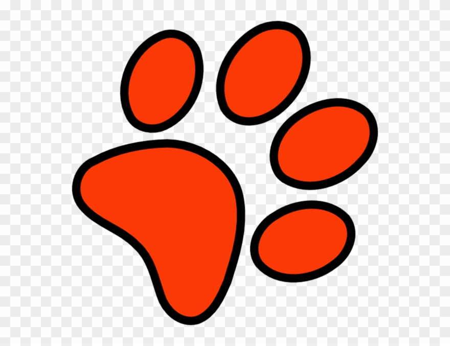 Red Paw Print Clip Art Ed Sheeran Paw Png Download 12533
