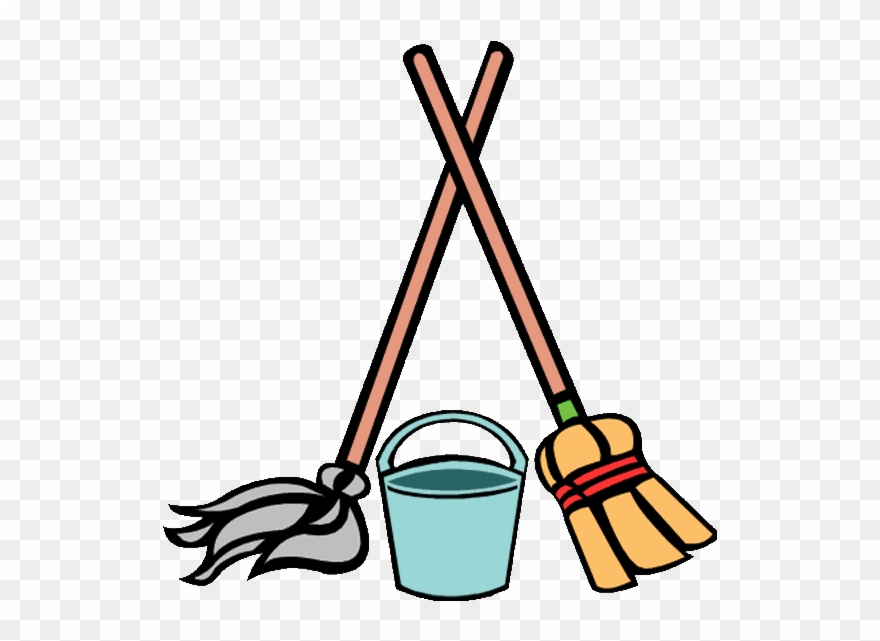 No - Clipart - Free - Jealous - Estampas - Cleaning - Broom And Mop
