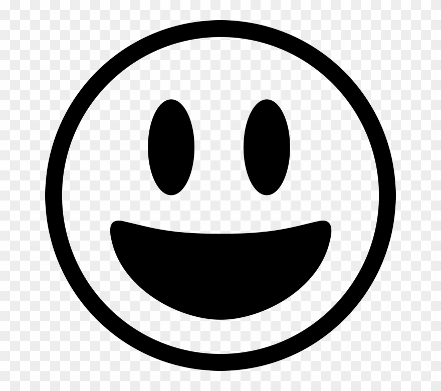 Banner Download Black And White Emoji Clipart - Smile Emoji