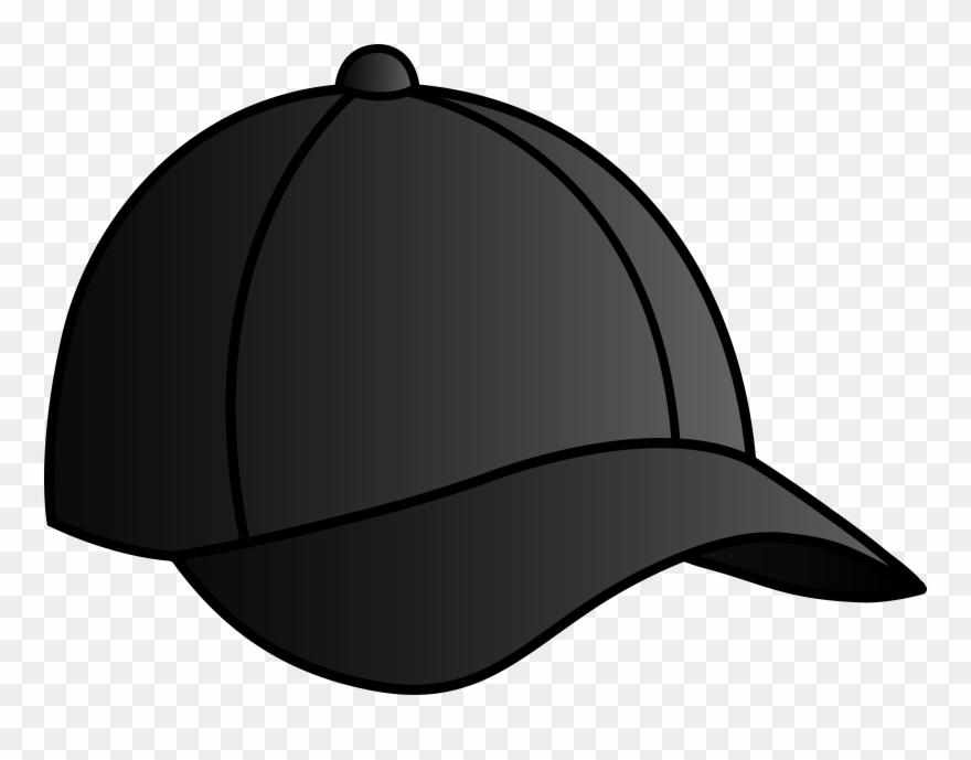 6eed94857d1 Baseball Hat Black Baseball Cap Free Clip Art - Black Baseball Cap Cartoon  - Png Download