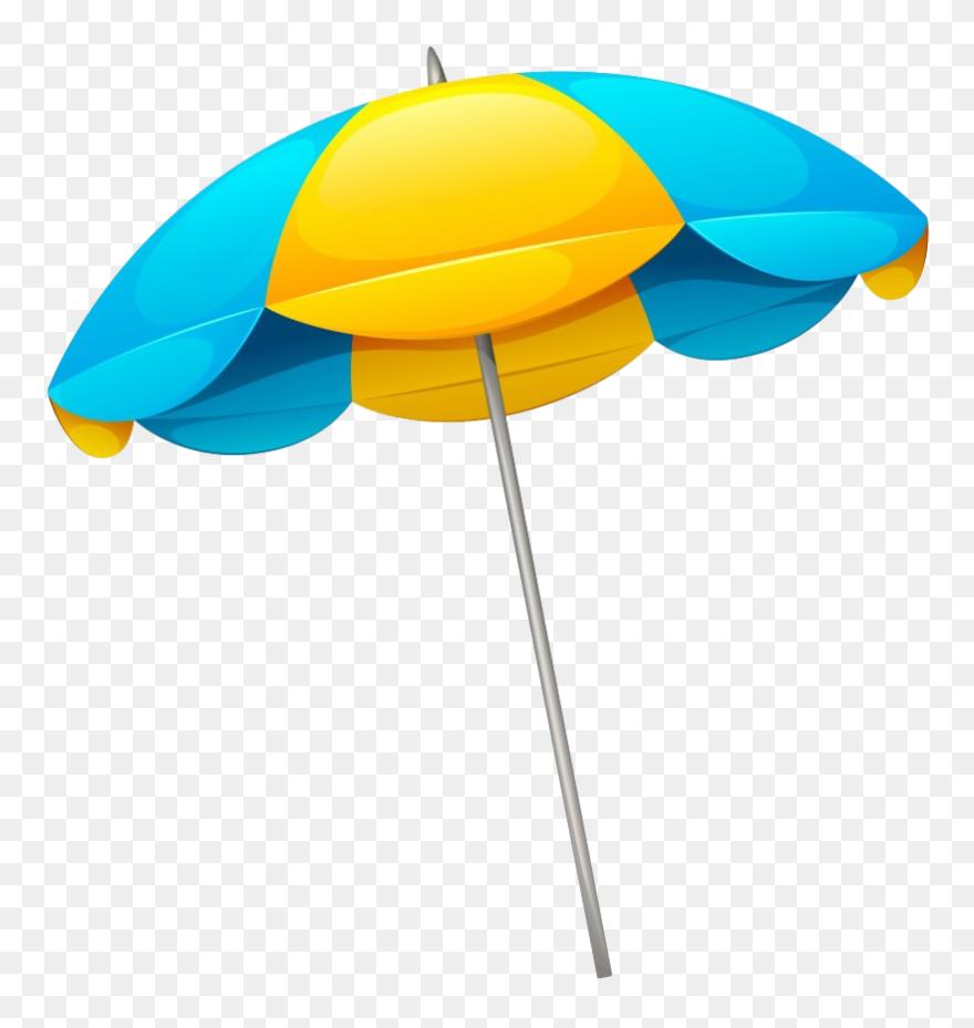 Umbrella Template, Tropical Nursery, Beach Clipart, - Beach Umbrella Cartoon Transparent - Png Download