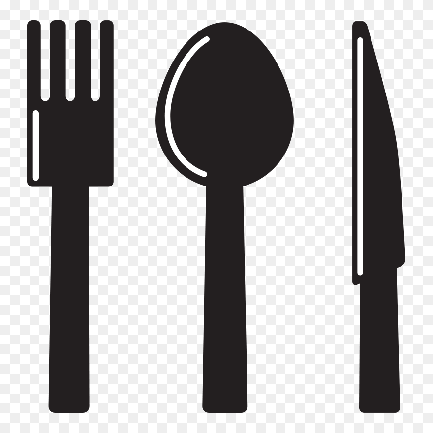 Kitchen Utensils Clip Art Spoon And Fork Clipart Png