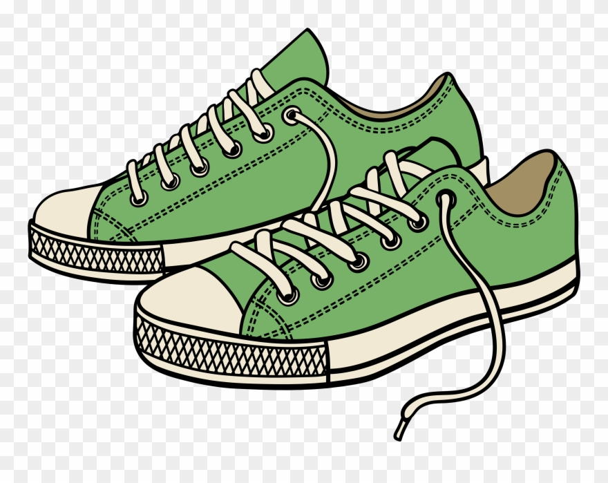 Sneaker Tennis Shoes Clipart Black And White Clipart Running Shoes