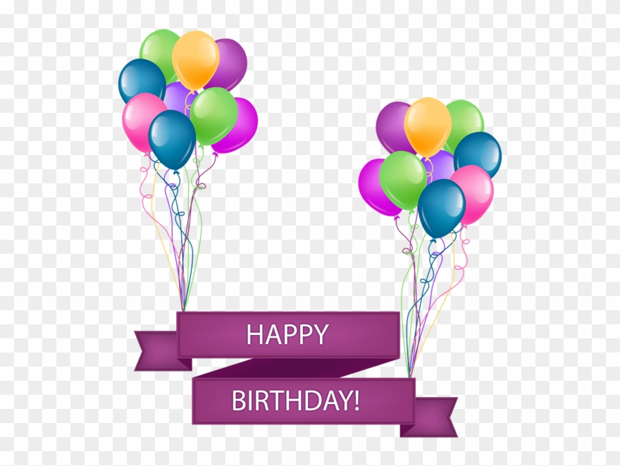 Clip Library Download Happy Birthday Banner With - Happy