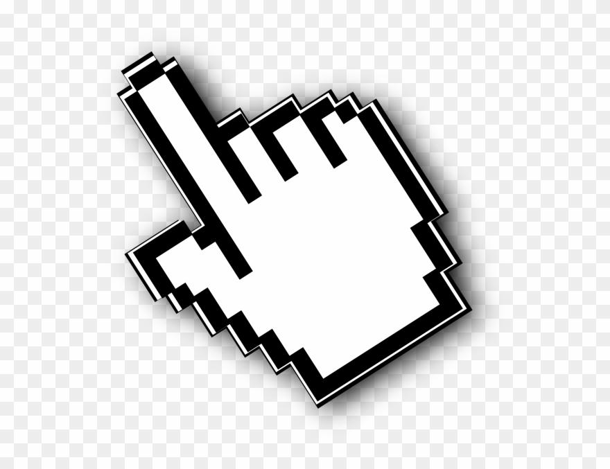 Mouse Click Cliparts - Hand Cursor - Png Download