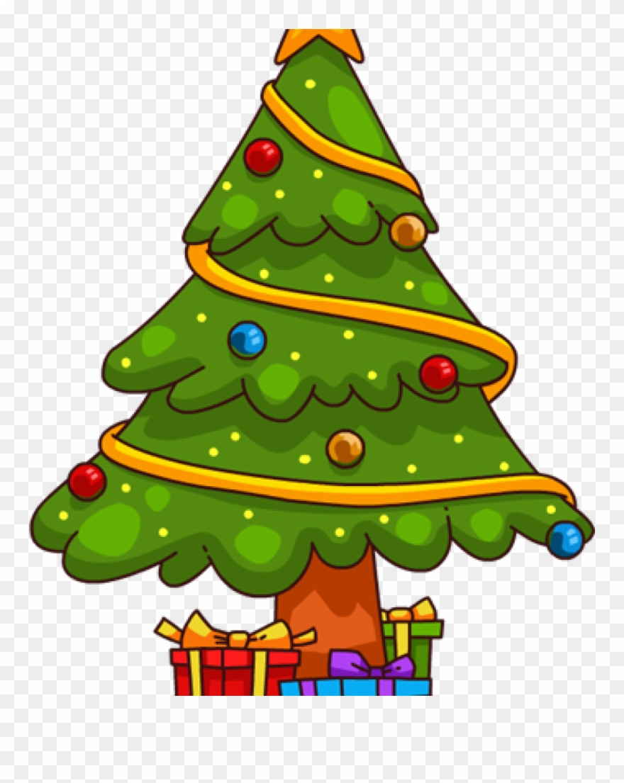 Christmas Trees Drawing.Clip Art Christmas Tree You Can Use This Cute Cartoon Cute