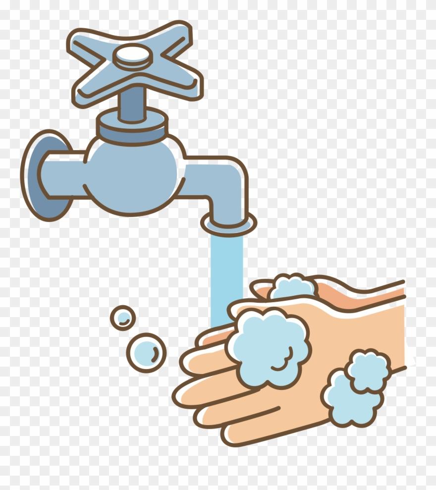 Onlinelabels Clip Art Wash - Wash Your Hands Clipart - Png ...