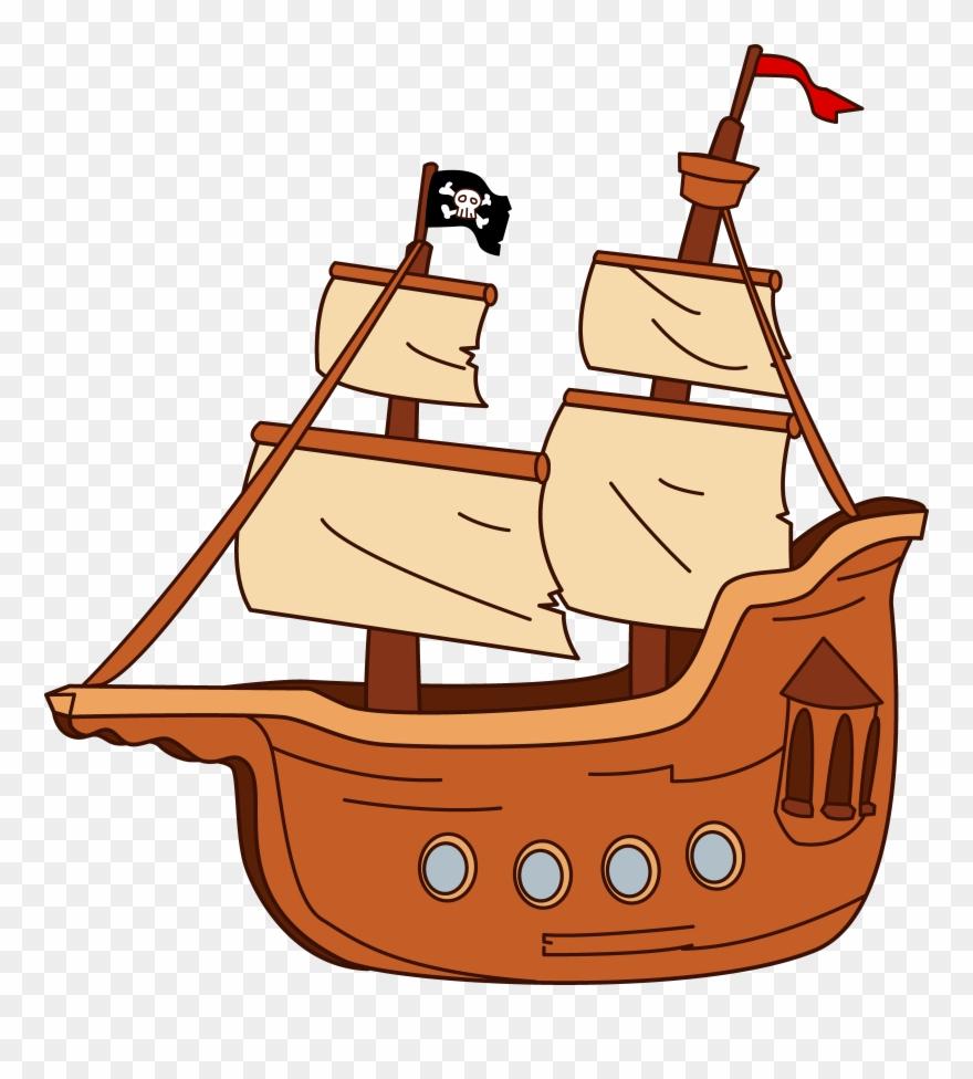 Boat 20clip 20art Bateau Pirate Dessin Couleur Png