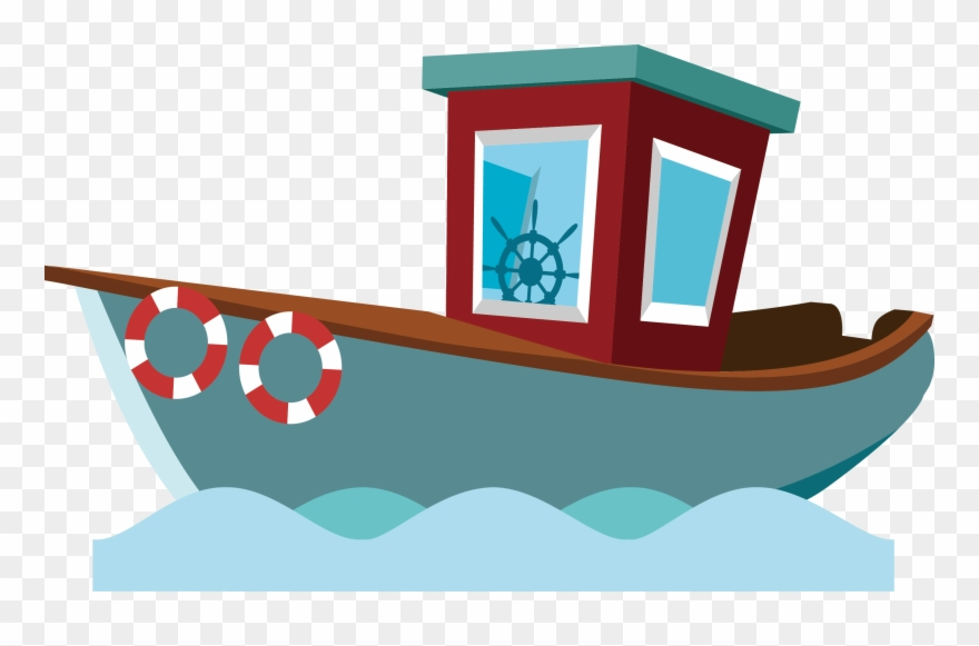 Clipart Black And White Fisherman Vector Boat Cartoon Barco De