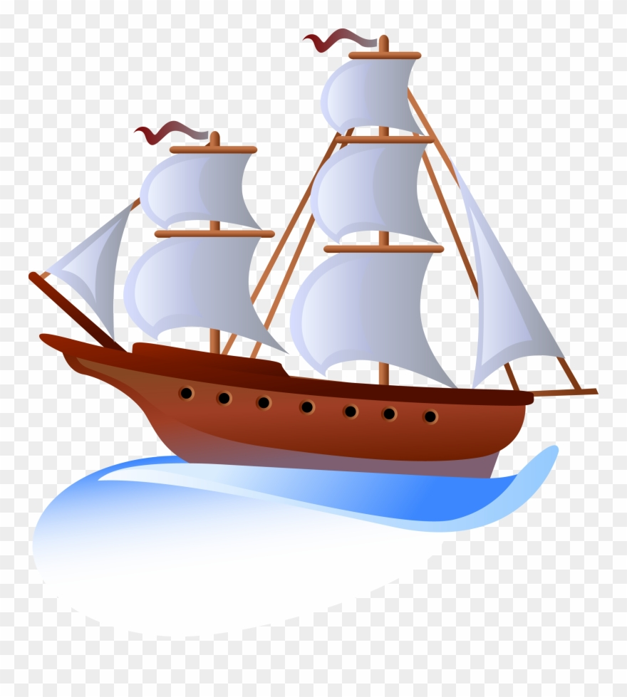 Clip Art Free Stock Boat Svg Yacht - Sailing Ship Clipart - Png Download