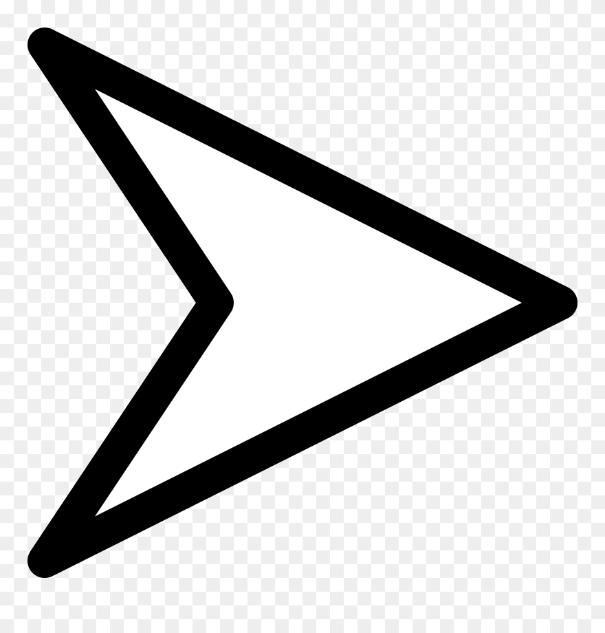 Plain Right White Arrow Clip Art At Clipart Library Right