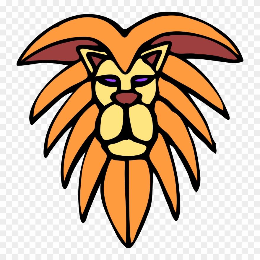 Lion fierce. Clip art black and