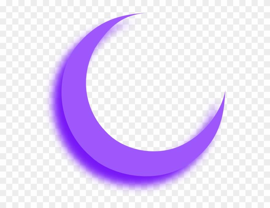 Purple Moon - Purple Crescent Moon Png Clipart