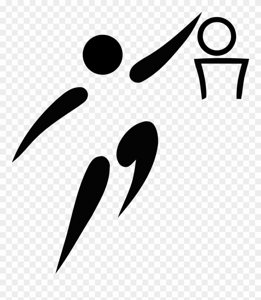 Free Vector Olympic Sports Basketball Pictogram Clip Basketball Pictogram Png Download 18108 Pinclipart