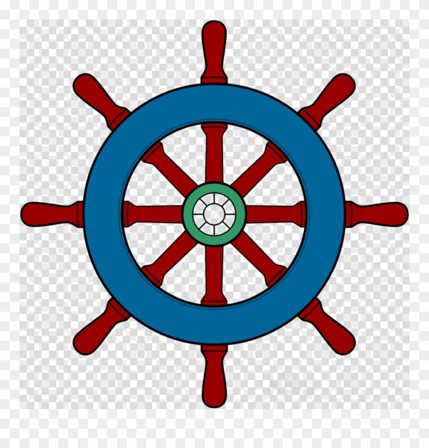 Boat Wheel Clipart Ship's Wheel Boat Clip Art - Boat Steering Wheel Clipart - Png Download
