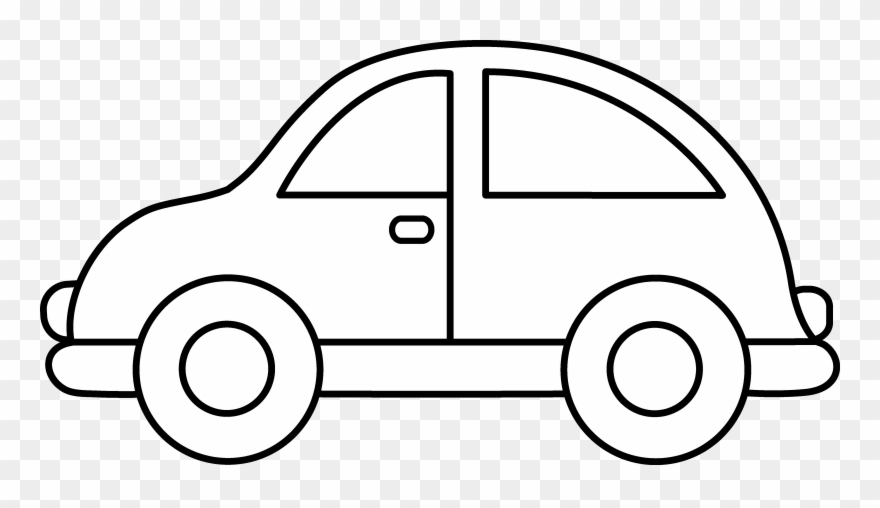 Toy Car Clip Art Black And White - Toy Car Colouring Pages - Png Download