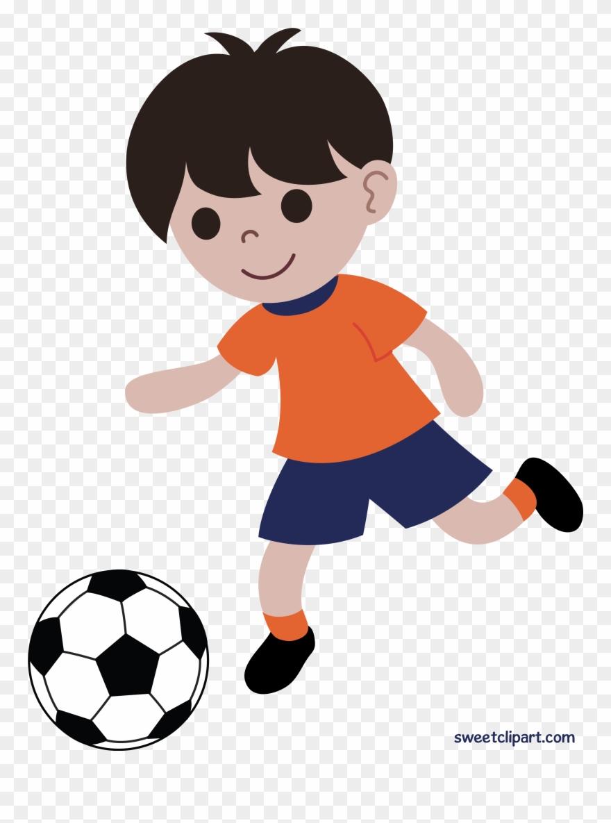Boy Playing Soccer Or Football Clip Art Free Clipart Playing Football Png Download 19631 Pinclipart
