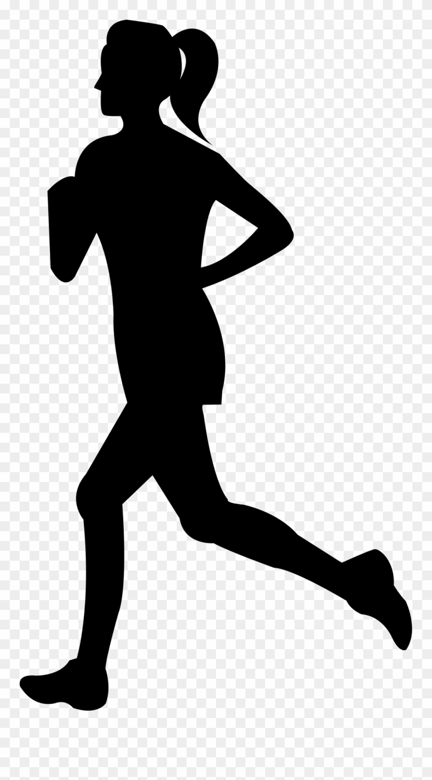 Free Clip Art Of Person Running Clipart Silhouette - Woman ...