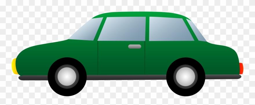 Car green. Simple clipart cartoon png