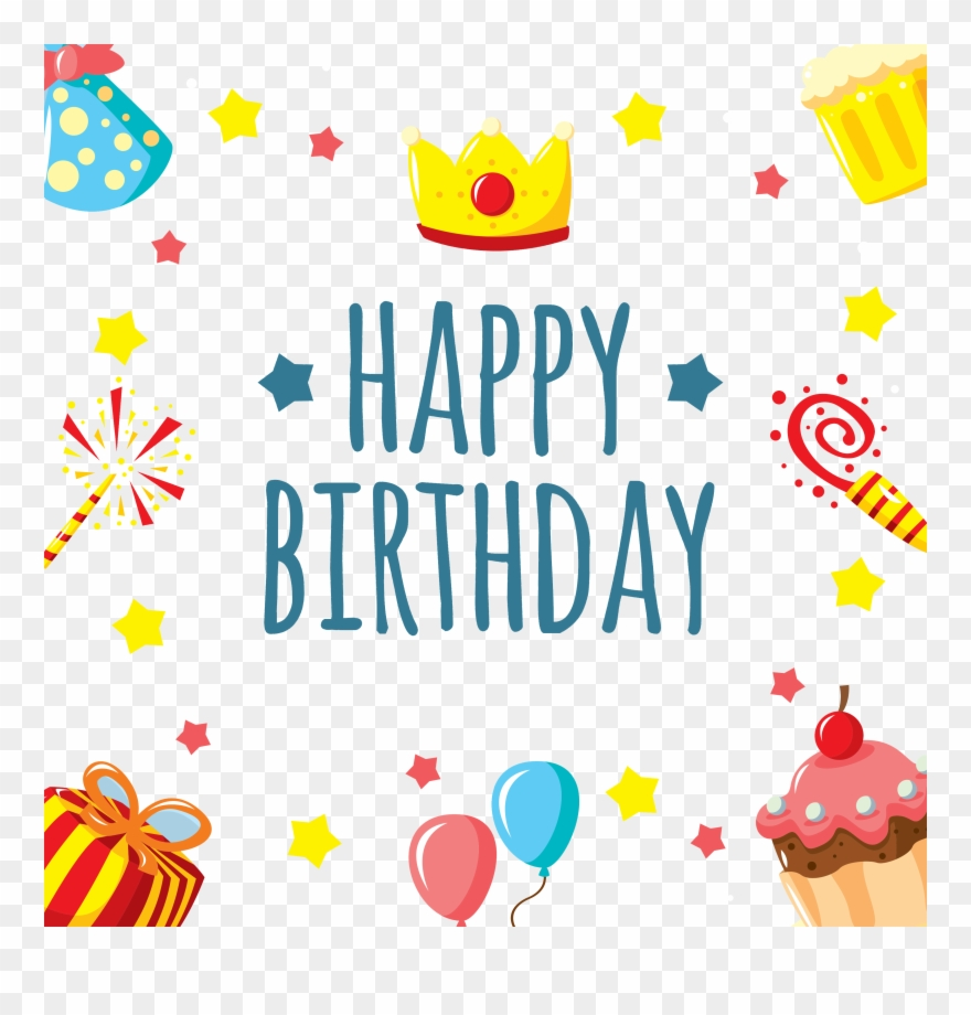 Happy Birthday Card Png - Transparent Background Cute Happy
