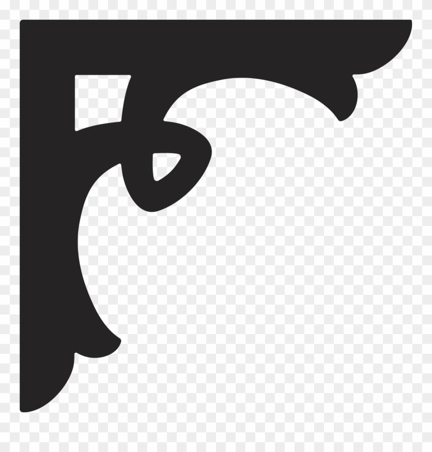 Corner Scroll Clipart Stencil Designs Autocad Dxf - Corner Scroll