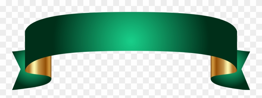 Banner - Green Banner Ribbon Png Clipart (#100687 ...