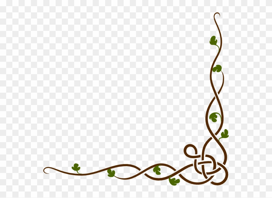 Cartoon Vines Border Clipart Drawing Clip Art Simple Border