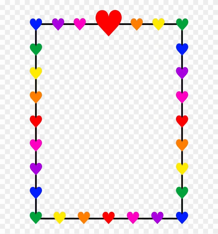 Hearts border. Download heart clipart borders