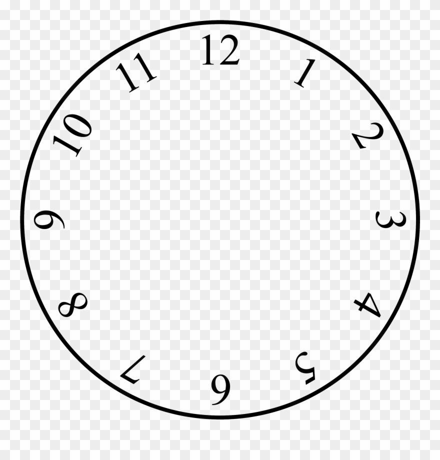 Free Clock Face Template Clock With No Hands Clipart