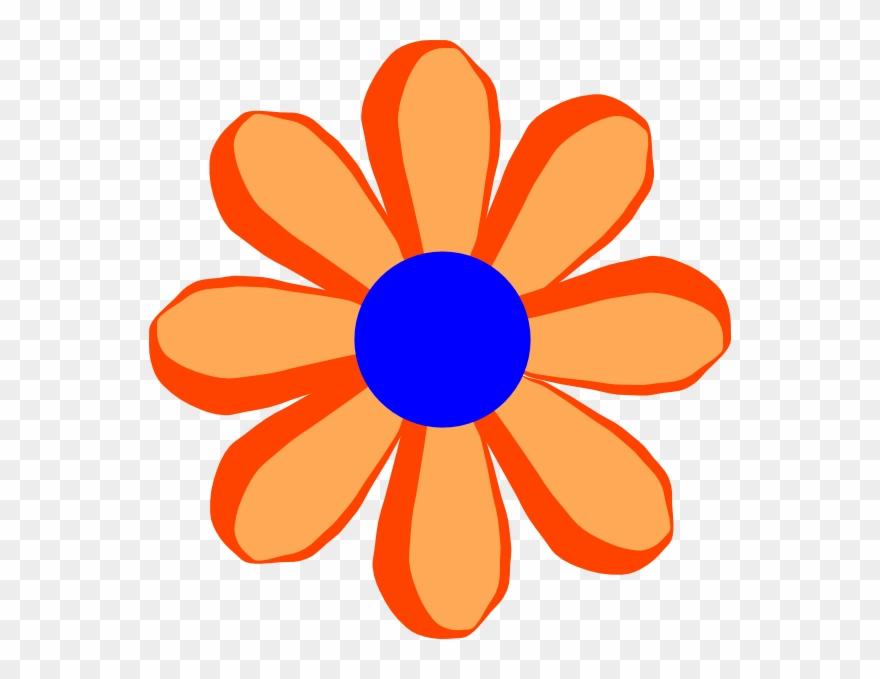 Clip art flowers clipart library. Flower cartoon orange at